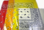 Paisley Bandana 100% Cotton Wholesale  (Dozen Packed) - Orange, Gold-Yellow and Yellow