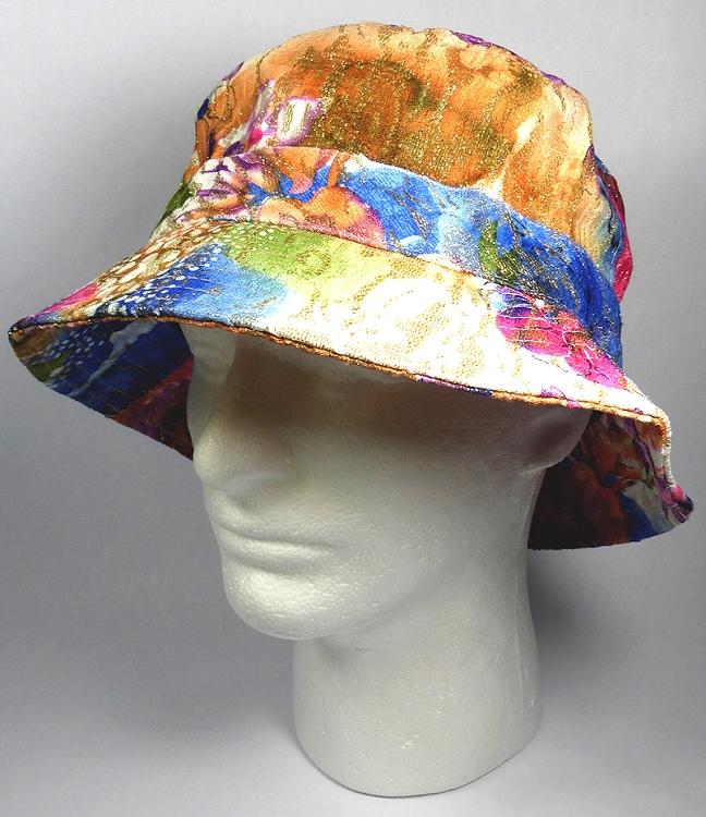 e2c4e9dbe Wholesale Blank Bucket Hats - Shiny Flower / Brown Purple