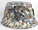 Wholesale Blank Bucket Hats - Money Dollar Bill