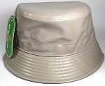 Wholesale Blank Faux - Leather Bucket Gray