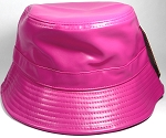 Wholesale Blank Faux - Leather Bucket Hot Pink