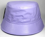 Wholesale Blank Faux - Leather Bucket Light Purple