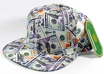 Wholesale Blank Dollar Bill Snapbacks Hats | Dollar / Dollar