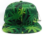 Wholesale Plain Snapback Caps Hats - Cannabis Print