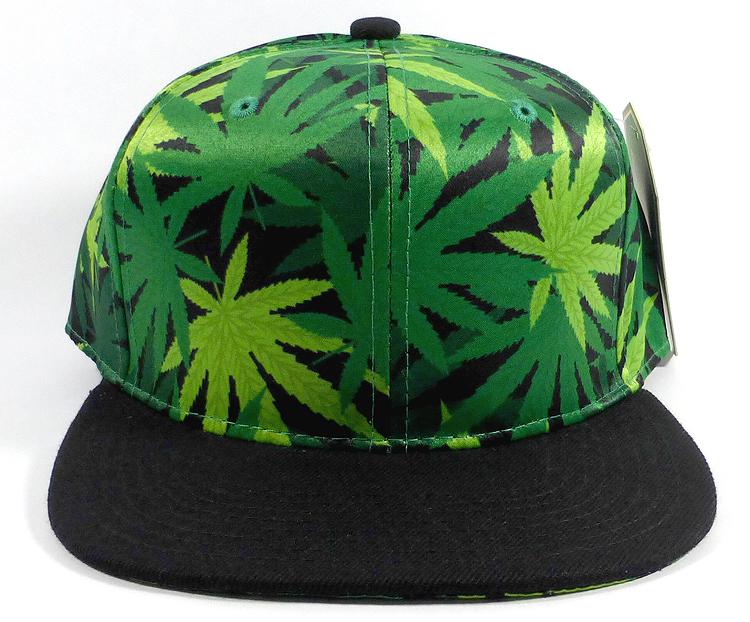7246aa8669e6c Wholesale Plain Snapback Caps Hats - Cannabis Print