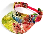 Flatbill Wholesale Blank Snapback Visors - Shiny Flowers / Yellow Tone