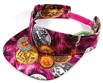 Flatbill Wholesale Blank Snapbacks Hats Visors - BitCoins - Hot Pink