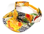 Flatbill Wholesale Blank Snapbacks Hats Visors - Yellow Rose Floral