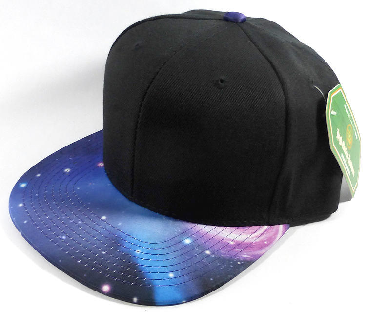 Wholesale Blank Snapback Hats - Galaxy Print  e77126a9f26