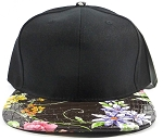 Wholesale Blank Flower Snapbacks Hats - Alligatorskin - Brown | Black