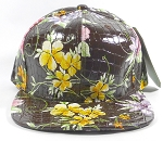 Wholesale Blank Floral Snapbacks Hats - Alligatorskin |  Solid Brown