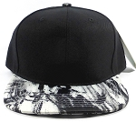 Wholesale Blank Art Pattern Snapbacks Hats - Wet Paint | Black Crown
