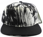 Wholesale Blank Art Pattern Snapbacks Cap - Wet Paint | Black Brim