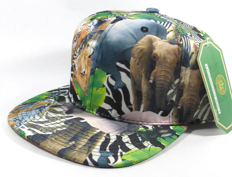 Wholesale Blank Animal Print Snapback Hats - Solid Wild Animals 10490874885