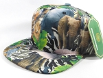 Wholesale Blank Animal Print Snapback Hats - Solid Wild Animals