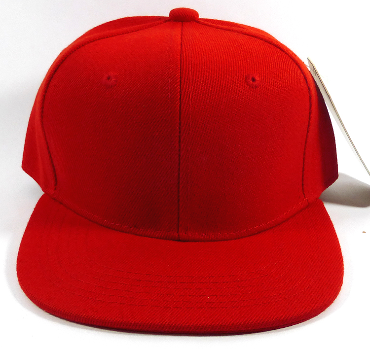 Wholesale plain caps red junior child hat 04c3f608226d