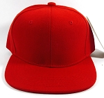 Junior | Kids Plain Snapback Hats Wholesale - Red