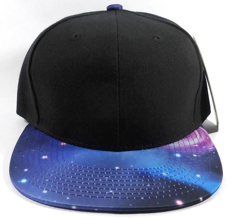 15260083 Home > ALL HATS > Wholesale Blank Snapback Hats - Galaxy Print   Black Crown