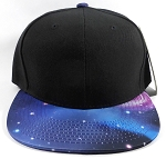 Wholesale Blank Snapback Hats - Galaxy Print | Black Crown