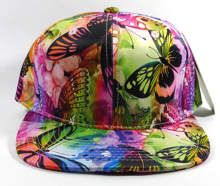 wholesale hats floral multicolor butterfly snapbacks caps rainbow solid  001.jpg 284f0851c0f