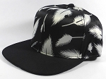 Wholesale Blank Snapbacks Caps | Feathers Black - Black Bill