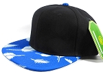 Wholesale Plain Snapbacks Hats | Feathers Blue - Black Top