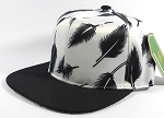 Wholesale Blank Snapbacks Cap | Feathers White - Black Bill