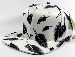 Wholesale Blank Snapbacks Caps | Feathers White - Solid