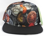 Wholesale Blank BitCoin Snapback Hats | Black and Black Flat Bill