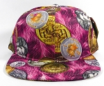 Wholesale Blank BitCoin Snapback Caps | Hot Pink Solid