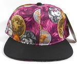 Wholesale Blank BitCoin Snapback Hats | Hot Pink and Black