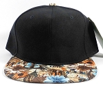Wholesale Plain Floral Snapbacks Hats | Daisy Love | Black and Brown