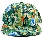 Wholesale Blank Flowers Snapbacks Hat | Daisy Love | Green Solid