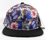 Wholesale Blank Flowers Snapbacks Hat | Daisy Love | Navy and Black