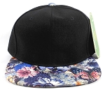 Wholesale Blank Flowers Snapbacks Hat | Daisy Love | Black and Navy