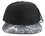 Wholesale Plain Feather Snapback Hats | Peacock Wing Patterns - Black Top