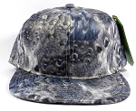 Wholesale Plain Feather Snapback Hats | Peacock Wing Patterns - Grey