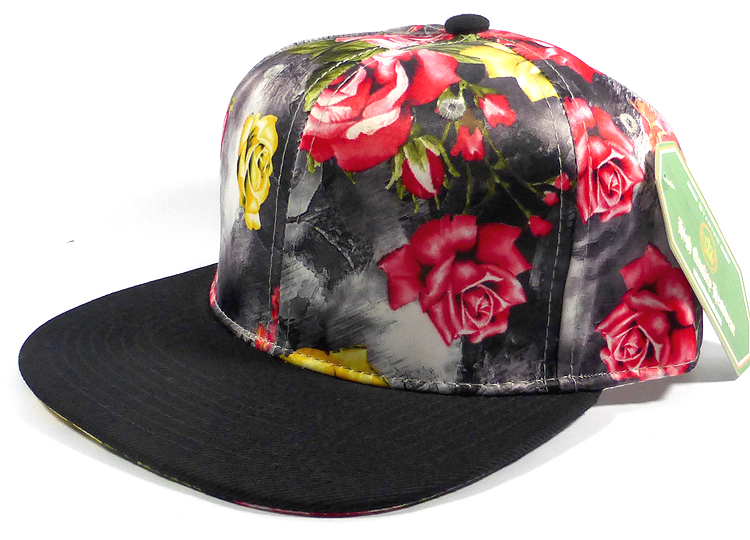 Wholesale Blank Snapback Rose and Flowers d0f02613b067