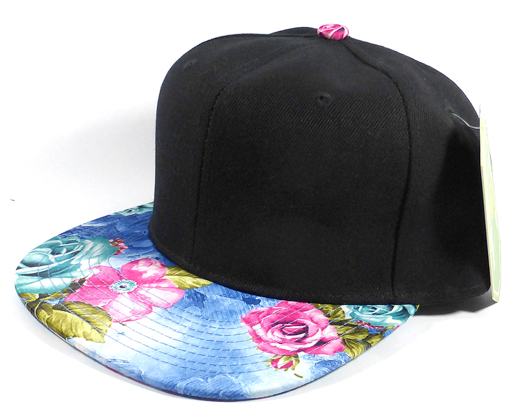 Wholesale Blank Snapback Rose and Flowers c78278c66d5