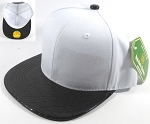 Bulk Faux Blank Alligator Skin Snapback Hats Wholesale | White - Black