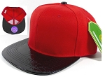 Wholesale Blank Alligator Snapback Hats Caps - Red | Black