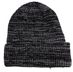 Wholesale Winter Knit Long Cuff Beanie Hats - Mixed Grey