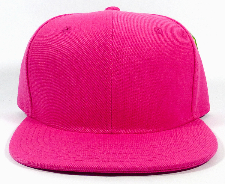 Blank Snapback Hats Caps Wholesale - Solid Hot Pink aec1e49649e