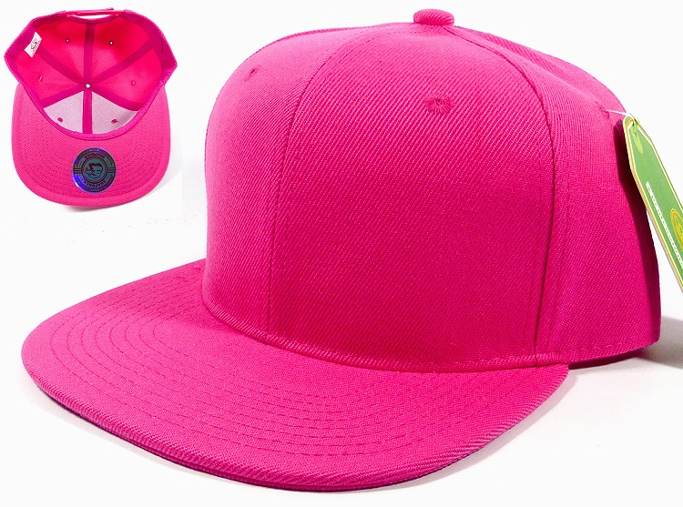 wholesale snapback caps plain solid hot pink blank hats 05.jpg 79283bfba5a