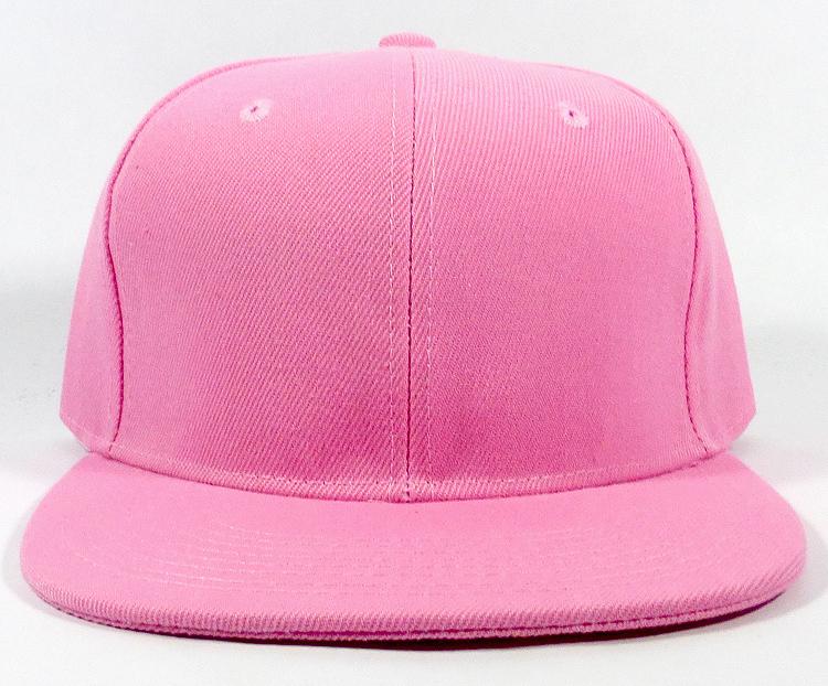 16396b6e6e536 Blank Snapback Hats Caps Wholesale - Solid Light Pink. Flatbill Solid  Snapback