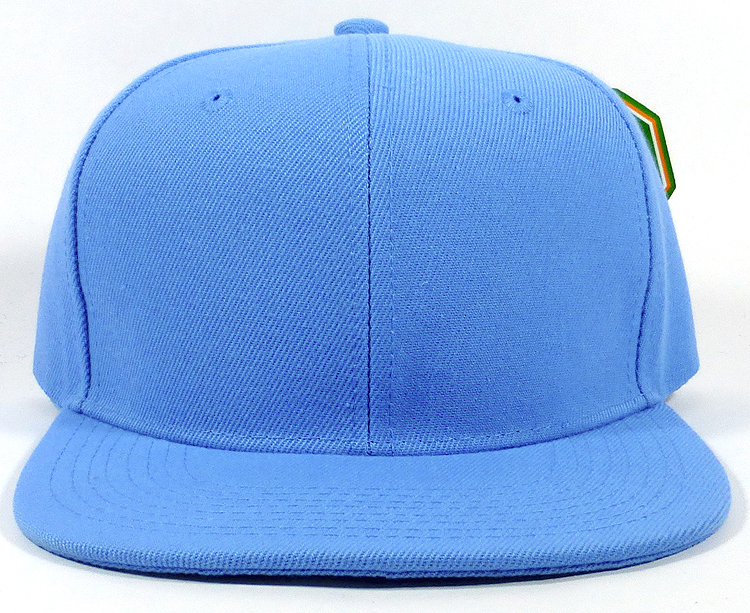 Blank Snapback Hats Caps Wholesale - Solid Sky Blue