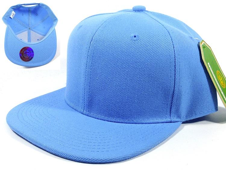 732a60e27a1f97 wholesale snapback caps plain solid sky blue blank hats 05.jpg
