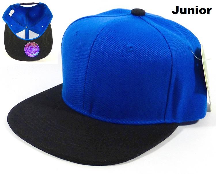 wholesale snapback junior caps children blank plain hat blue black 05.jpg 43b9c7945d4