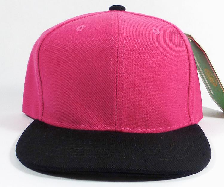 171975f5 KIDS Blank Jr. Snapback Hats Wholesale - Two Tone - Hot Pink | Black. Junior  Snapback