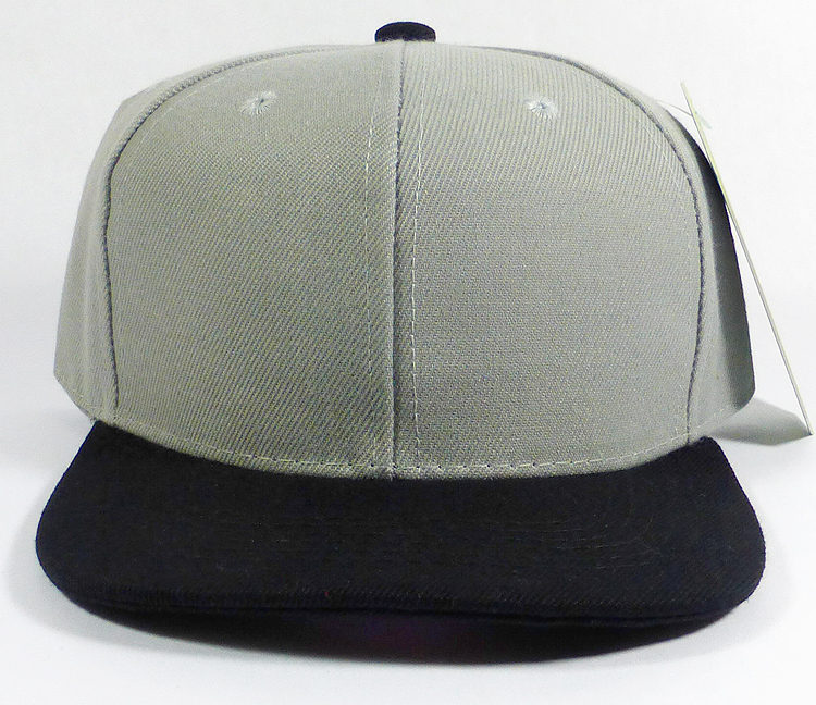 f18491f50ac44 KIDS Jr. Blank Snapback Hats Wholesale - Two Tone - Light Gray